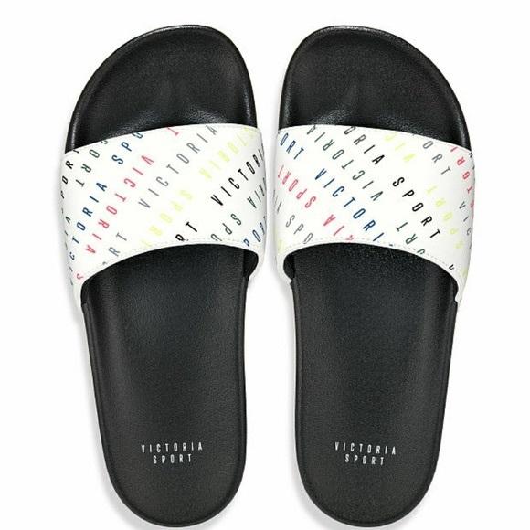 ef7e67e0e456f NEW✨ Victoria's Secret Sport Slides Shoes Rainbow NWT